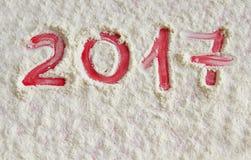 Nieuw jaar geschreven 2017 Stock Afbeelding