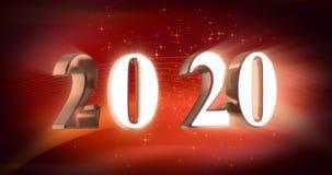 Nieuw jaar 2020 stock videobeelden