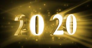 Nieuw jaar 2020 stock footage