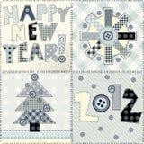 Nieuw jaar het watteren ontwerp royalty-vrije illustratie