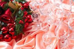 Nieuw jaar, Kerstmis, decoratie, slinger Stock Afbeelding