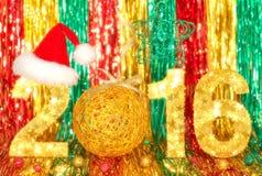 Nieuw jaar 2016 Kerstmis Feestelijke levendige kleurrijk Stock Afbeeldingen