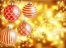 Nieuw jaar 2016, Kerstmis, vage achtergrond Royalty-vrije Stock Fotografie