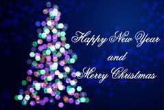 Nieuw jaar 2016, Kerstmis, vage achtergrond Stock Fotografie