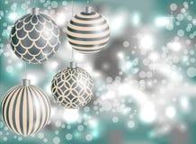 Nieuw jaar 2016, Kerstmis, vage achtergrond Royalty-vrije Stock Foto's