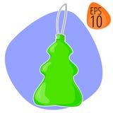 Nieuw jaar of Kerstmis vectorillustratie decoratief speelgoed Royalty-vrije Stock Foto's