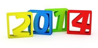 Kleurrijke 2014 kaders Stock Afbeelding