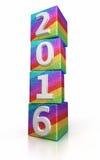 Nieuw jaar 2015 Kleurrijke kubussen royalty-vrije illustratie