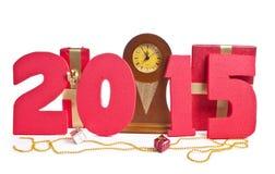 Nieuw jaar 2015, klok royalty-vrije stock afbeeldingen