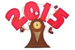 Nieuw jaar 2015, klok stock foto's