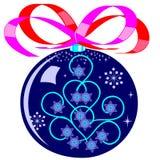 Nieuw-jaar marineblauwe bal Royalty-vrije Stock Foto's