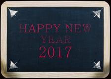 Nieuw jaar 2017 met de hand geschreven bericht op een lei Royalty-vrije Stock Afbeelding
