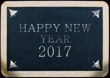 Nieuw jaar 2017 met de hand geschreven bericht op een lei Stock Afbeeldingen