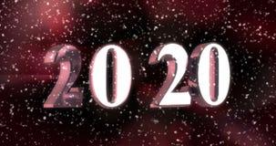 Nieuw jaar 2020 stock video