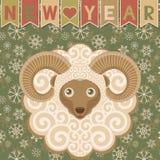 Nieuw jaar met ram Stock Afbeeldingen