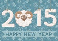 Nieuw jaar 2015 met ram Royalty-vrije Stock Foto's
