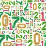 Nieuw jaar naadloos patroon Royalty-vrije Stock Fotografie