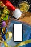 Nieuw jaar op het werk stock fotografie