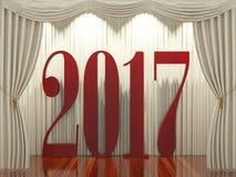 Nieuw jaar 2017 op stadium Stock Fotografie