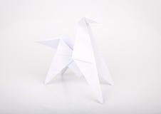 Nieuw jaar 2014 origamidocument paard. stock afbeelding