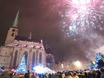 Nieuw jaar in Pilsen Royalty-vrije Stock Afbeeldingen