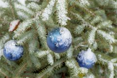 Nieuw jaar ` s en Kerstmisdecoratie Stock Afbeeldingen