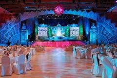 Nieuw jaar Schitterende feestelijke zaal moskou 31 12 2010 Stock Afbeelding