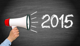 Nieuw jaar 2015 teken Royalty-vrije Stock Afbeeldingen