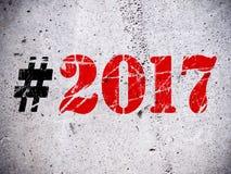 Nieuw jaar 2017 teken Stock Foto's