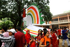 Nieuw jaar 1422 van Bangladesh viering Royalty-vrije Stock Foto