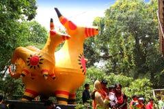 Nieuw jaar 1422 van Bangladesh viering Stock Afbeelding
