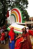 Nieuw jaar 1422 van Bangladesh viering Stock Afbeeldingen