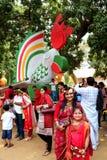 Nieuw jaar 1422 van Bangladesh viering Royalty-vrije Stock Afbeeldingen