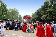 Nieuw jaar 1422 van Bangladesh viering Stock Foto's