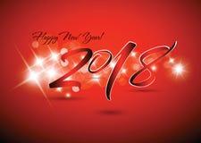 2018 Nieuw jaar van vieringskaart Royalty-vrije Stock Foto's