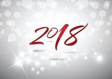 2018 Nieuw jaar van vieringskaart Stock Foto