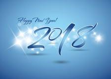 2018 Nieuw jaar van vieringskaart Stock Afbeeldingen
