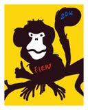 Nieuw jaar Vector illustratie Royalty-vrije Stock Afbeeldingen