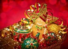 Nieuw jaar 2016 Vrolijke Kerstmis De decoratie van de partij Stock Foto