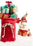 Nieuw jaar 2016 Vrolijke Kerstmis Santa Claus en Royalty-vrije Stock Afbeeldingen