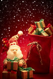 Nieuw jaar 2016 Vrolijke Kerstmis Santa Claus en Royalty-vrije Stock Foto's