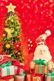 Nieuw jaar 2016 Vrolijke Kerstmis Santa Claus en Royalty-vrije Stock Foto
