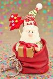 Nieuw jaar 2016 Vrolijke Kerstmis Santa Claus en Stock Afbeelding