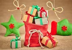 Nieuw jaar 2016 Vrolijke Kerstmis, Santa Claus-rood Stock Foto's