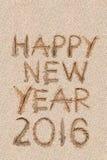 Nieuw jaar 2016 zand Stock Foto's