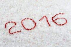 Nieuw jaaraantal in parels Stock Afbeelding