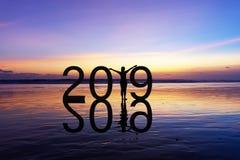 2019 Nieuw jaarconcept stock afbeeldingen