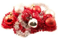 Nieuw jaarspeelgoed en klatergoud Royalty-vrije Stock Afbeelding