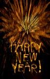 Nieuw jaarsterretjes en vuurwerk Royalty-vrije Stock Foto's