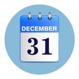 Nieuw-jaarvector in blauwe tonen Stock Foto